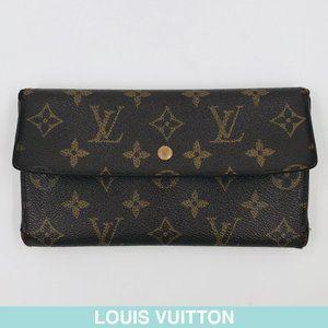 Auth Louis Vuitton Monogram long wallet M61215